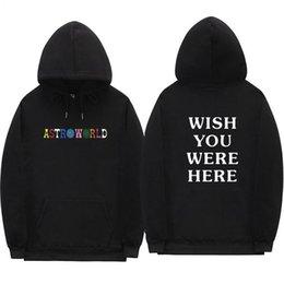 Sweatshirt Männer 2018 Menshoodies-Travis Scott Astroworld Brief Print Pullover Männer / Frau lose Street im Angebot