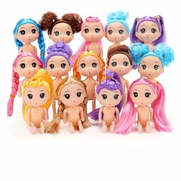 Wholesale 12cm Ddung Dessert Girl Birthday Party Cake Decoration Dessert Cute Manual Naked Doll Mold High Quality jh WW