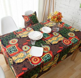 cf20d4ca3d National Style Table Cloth Colorful Printed Boho Table Cover Soft Cotton  Linen Bohemian Tablecloth for Home Decor