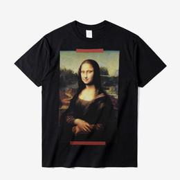 China Oil Painting Print Vintage T shirt 2018 Summer Men Women Mona Lisa Cotton Tee Shirt Hip Hop Streetwear Short Sleeve Black Tees DFYH0313 cheap oil shorts suppliers