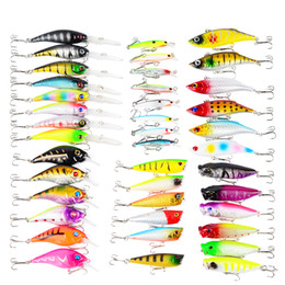 $enCountryForm.capitalKeyWord Australia - wholesale Proberos 40-Piece Set ABS Plastic Classic Fishing Lures Hard Bait Carp Fishing Pesca Fishing Accessories