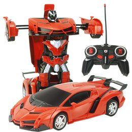 Electric Sports Cars NZ - Transformation Robots RC Car Sports Car Models Remote Control Deformation Car RC Robots Kids Toys Children's Birthday Gifts kids toys