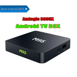 Wholesale M9S X1 Android TV Box Amlogic Quad Core Bit OS Rom GB Mini TV Smart Box Support YouTube Wifi Google Play with Retail Package