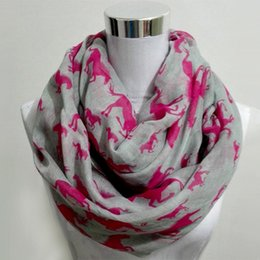 Cotton Viscose Scarves Australia - New fashion Women Ladies Viscose Cotton big small Horse Print scarf horse infinity Animal horse Scarves Shawl Wrap