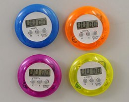 Wholesale LCD Cooking Timers Electronics Kitchen Timer Mini Baking Timer Alarm Reminding device Colors Lunch break timer With Clip