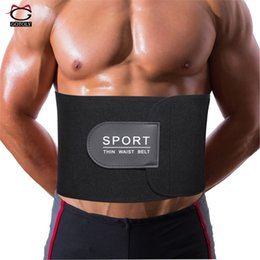 trainer fitness belt NZ - Mens Body Shaper Corset Waist Trainer Slimming Belt Neoprene Adjustable Paste Shapewear Fitness Thermal Underwear Girdle