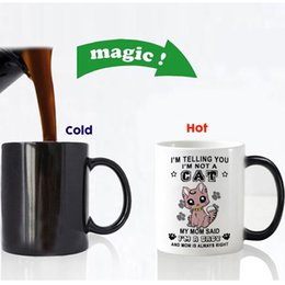 CeramiC lids online shopping - New Design Funny Cute Cats Color Changing Ceramic Coffee Mug Tea Cup Magic Mugs For Birthday Gift