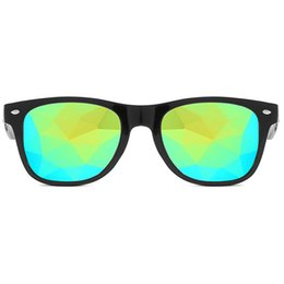 aab7d0d0c7 Round Women rave festival Sunglasses Men Holographic Glasses Colorful  Celebrity Party Eyewear