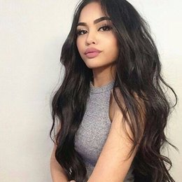 Discount straight bangs wavy hair - Hot Wavy Glueless Full Lace Wig With Bangs Peruvian Virgin Hair Full Fringe Wig Human Hair Bleached Knots Wig For Black
