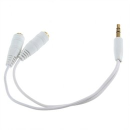 Wholesale 3.5mm Earphone Y Splitter Cable Jack Male to Double Female Adapter Headphone Extension 1 into 2 Cable For Computer Phone Speaker free ship