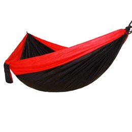 swing beds UK - Fashion 14 Designs Double People Hammock Lightweight Nylon Portable Hammocks 270*140cm Camping Swing Sleeping Hanging Bed