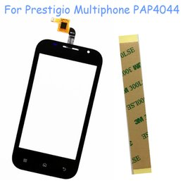 touch screen digitizer prestigio UK - Mobile Phone Touch Screen Digitizer For Prestigio Multiphone PAP4044 DUO 4044 Touchscreen Sensor Glass Front Panel + 3M Sticker