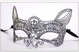 $enCountryForm.capitalKeyWord Australia - Lace Venetian Half face flower mask Masquerade Party on stick Mask Sexy Halloween christmas dance wedding Party Mask supplies zx6