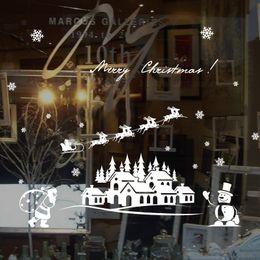 $enCountryForm.capitalKeyWord Australia - 2019 New Year Merry Christmas Decorations for Home Santa Claus Glass Window Stickers Snowman Removable Stickers Navidad Natal Y18102609