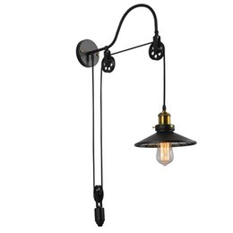 $enCountryForm.capitalKeyWord UK - American Style Loft Vintage Wall Lamp Fashion Antique Lighting Retractable Wall light New black lamps art lamps E063