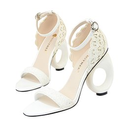 wrap office UK - Clubwear Buckle Strap Hollow-out Sandals Women Heels Pumps Open Toe High Heels Festival Party Wedding Shoes Formal Pumps Sandals GWS461