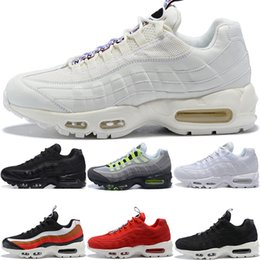 451a10f3e0 New Men Designer 95 Running Shoes OG Grape Neon TT Black Red 95s Mens What  The Trainers Sports Sneakers Size 7-11