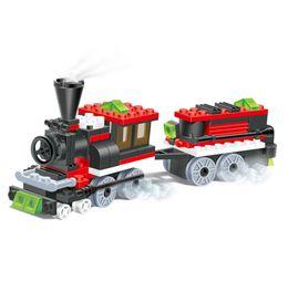 Diy Boys Toys UK - train building blocks Set toy bricks steam train DIY assebling bloCKS gift boy train