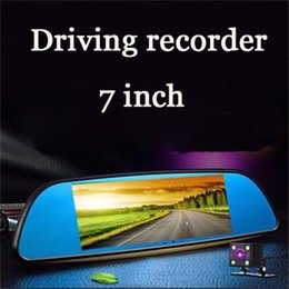Rearview Screen NZ - Driving recorder seven inch dual lens rearview mirror capacitive screen HD night vision can be reversing images Car DVR
