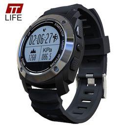 Men Sports Racing Watch UK - TTLIFE GPS Bluetooth Smart Watch Heart Rate Monitor Height Race Speed Sports Watch Outdoor Fitness Monitor Men Women Wristwatch