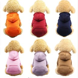 Pet Dog Clothes Warm Dog Felpe Cappotto Giacche Tasche Puppy Pet Tute Piccolo Cane Costume Animali Outfits Pet Supplies 10pcs YW1508 in Offerta