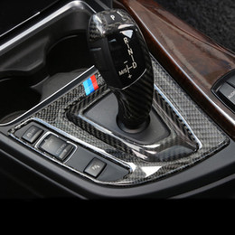 $enCountryForm.capitalKeyWord Canada - Carbon Fiber Car styling Center Control Gear Shift Panel Decorative Sticker Interior Trim For BMW 3 4 Series 3GT F30 F31 F32 F34 Accessorie