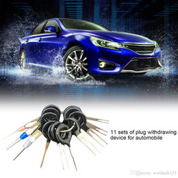 Wholesale Harness Connector Australia - 11pcs set High Quality Car Plug Terminal Extraction Pick Back Needle Wire Harness Connector Crimp Pin Automobiles Repair Tool