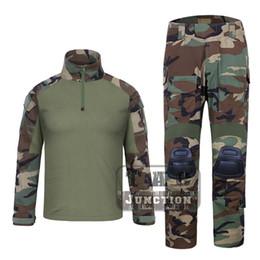 bec8a0d6b3fb2 EmersonGear G3 Combat Shirt   Pants WoodLand Tops+Trousers Set Tactical  Hunting GEN3 Camouflage BDU Uniform Set