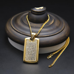 shield plating NZ - Fashion Design Shield Pendant Necklaces For Men Brand Hip Hop Jewelry Luxury 18K Gold Plated Necklace Fashion Accessories