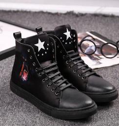 $enCountryForm.capitalKeyWord Canada - 2018 New style British style autumn printing high help men's shoes leisure trend high fashion shoes Martin boots Fashion Men Dress shoe N177