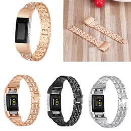 rhinestone bands for watch UK - For Fitbit Charge 2 HR Bands,Metal Stainless Replacement with Crystal Rhinestone Adjustable Jewelry Strap Bracelet Watch Band Strap for Fitb