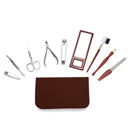 $enCountryForm.capitalKeyWord NZ - Nipper Cutter Miss Gorgeous 9 Stainless Steel Pedicure Manicure Set Earpick Nail Clipper Trimmer Eyebrow Scissors Nail Care Tool