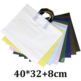f9053d883264 Pe Shopping Bags Australia - 40x32x8cm reusable clothing cosmetics PE  plastic shopping bag with handle