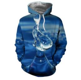 f8b65bcc88c4 3d Water Drop UK - New Fashion Men Women 3d Hoodies Water drop Print Hooded  Hoodies