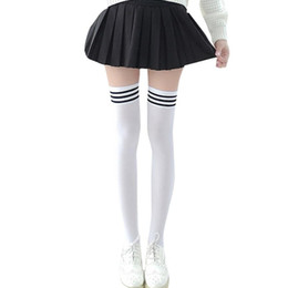 e4f55dcd2a6 Thigh High Socks Stripes UK - Long Socks 1Pair New Women Girls Over Knee  Long Stripe