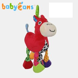 Toy red horse online shopping - Colourful music horse baby brand toy