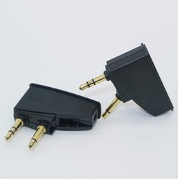 China Headphone Airline Adapter Connector 3.5mm to 2 x 3.5 mm Stereo Ear Headset Headphone Audio Adapter Connector Jack Aircraft Airplane OTH834 cheap ear connector suppliers