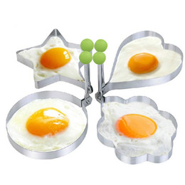 China 1pcs Stainless Steel Pancake Mold Fried Egg Shaper Egg Mold Omelette Cooking Tools Kitchen Gadgets Random Shape suppliers