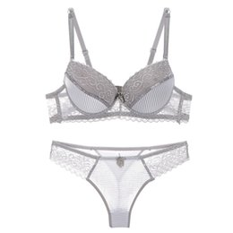 534b1a45d48 ABC sexy bra set lace push up women underwear panty set cotton refreshing  bra brief sets France lingerie suit