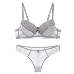 3f7b93414b ABC sexy bra set lace push up women underwear panty set cotton refreshing bra  brief sets France lingerie suit