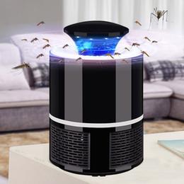 Venta al por mayor de Mosquito asesino USB eléctrico matador de mosquitos Lámpara Fotocatálisis silencio hogar LED insecto zapper trampa de insectos Sin radiación