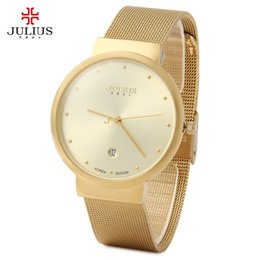 $enCountryForm.capitalKeyWord NZ - Top Watches Men Luxury Julius Brand Men's Watches Stainless Steel Analog Display Quartz Men Wrist watch Ultra Thin Dial Relogio