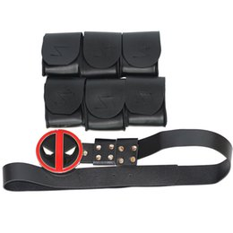 Wholesale deadpool quality costume online – oversize 2018 Cosplay Deadpool high quality props stage property photo jewelry props cosplay party accessories belt straps and leg bands