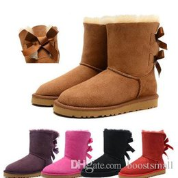 $enCountryForm.capitalKeyWord UK - 2019 Tonga winter Australia Classic snow Boots good fashion tall boots real leather Bailey Bowknot women's bailey bow Knee Boots mens s