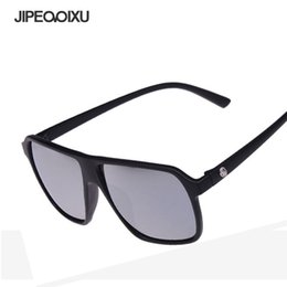 ea7d1f9b7d85 JIPEMIXU Men Retro Sunglasses Reflective Lens Sun Glasses Women Fashion  Square Large Frame Eyewear Brand Designer UV400