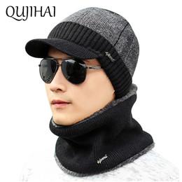 Discount neck warmer beanie - QUJIAHI Winter Hat For Men Skullies Beanies Hats Winter Beanie Women Wool Scarf Caps Neck Warmer Balaclava Mask Knitted