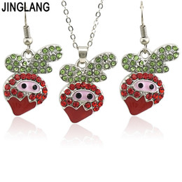 african american costumes 2019 - JINGLANG Women Wedding Jewelry Sets For Brides Cherry Costume Necklace Earrings Set Fashion Indian African Beads Jewelry