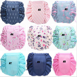 Wholesale Hot selling Women Drawstring Cosmetic Bag Fashion Travel Makeup Bag Organizer Make Up Case Storage Pouch Toiletry Beauty Kit Box Wash Bag