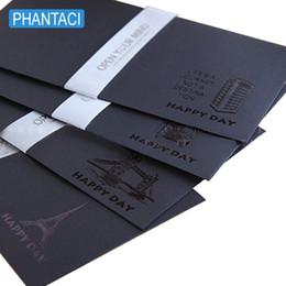 European Stationery NZ - 20 pcs lot Retro Black Craft Paper Envelopes Vintage European Style Envelope for Post Card Scrapbooking Letter Gift Stationery