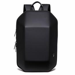 Venta al por mayor de 2018 Nuevo Diseño 3D ABS Shell Mochila Simple Color Puro Ordenador Mochila Novedad Estudiante Bolsa Hombres y Mujer Mochilas de Viaje